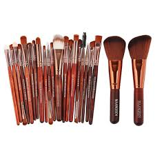 maange 22pcs professional cosmetic make up brush set rose gold