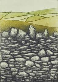 stone walls roundwood etching by niamh mac gowan on stone wall artwork with stone wall at multnomah oil on board 5 x 7 don gray wall art