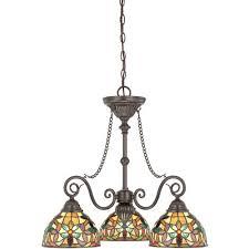kami vintage bronze three light chandelier