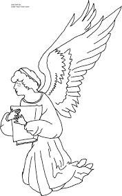 Small Picture Kneeling Angel Coloring Page