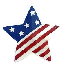 american flag metal stars outdoor wall