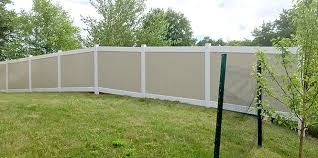 Image Tan Color Tan And White Vinyl Privacy Fence Aaa Fencing Llc Vinyl Fence Photos Aaa Fencing Llc Duluth Minnesota Chain