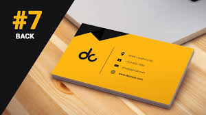 Best Way To Design Business Cards 7 How To Design Business Cards In Photoshop Cs6 3d Flat Design Back