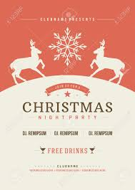 holiday flyer template stock illustrations cliparts and holiday flyer template christmas party invitation retro typography and or nt decoration christmas holidays flyer
