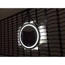 Gương Tròn Đèn LED Siêu Sáng Dây Da Treo Tường Cao Cấp - đường kính D500,  giá chỉ 849,000đ! Mua ngay kẻo hết!