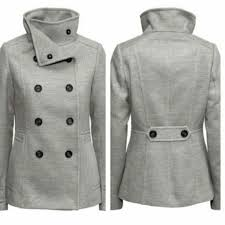 63 off hm jackets blazers grey hm womens peacoat from grey pea coat womens