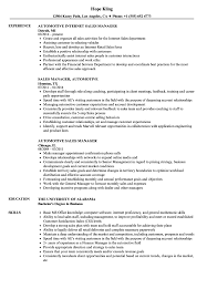Automotive Sales Manager Resume Samples Velvet Jobs