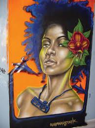 artist rahmaan statik um spray paint on wood panel size 8x6ft status sold
