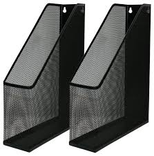 black mesh wall mount file holder