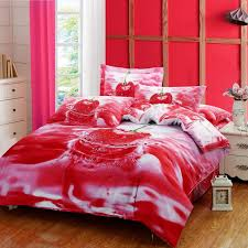 new sweet cherry 3d bedding oil painting printed duvet cover bedding sets three dimensional pattern home textiles cute bedding queen size bedding from