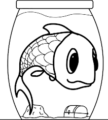 Small Picture Giant Fish in a Small Fish Bowl Coloring Page Download Print