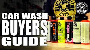 Chemical Guys Chart Car Wash Soap Buyers Guide Chemical Guys Car Care