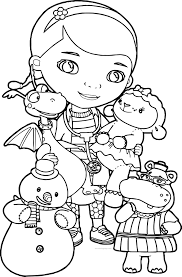 Small Picture Doc Mcstuffins Coloring Pages Wecoloringpage