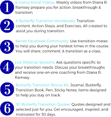 Transition Quotes New Butterfly Transition 48 In WDiana Ramsey Course LANDING PAGE