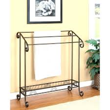 standing towel rack oil rubbed bronze. Standing Towel Racks Satin Nickel Freestanding Rack Bronze Oil Rubbed . E