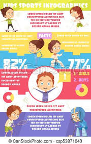 Sports Infographic Template Kids Sport Infographics Kids Sport Infographics Template With