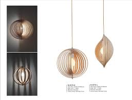 Oval Shape Decorative Indoor Wood Modern Pendant Lampn 057s L