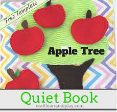 apple tree busy book pattern there are many variations for this page depending of your interest or the quiet