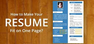 40 Tips To Make Your Resume Fit On One Page Enchanting Resume Powerpoint