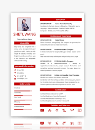 English Resume Template Word Templateword Free Download