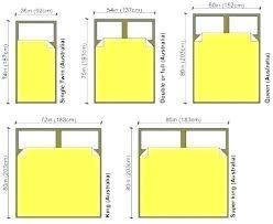 Mattress Measurements Chart