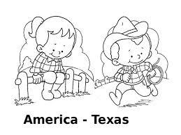 Disegni Da Colorare I Bambini Del Mondo America Texas