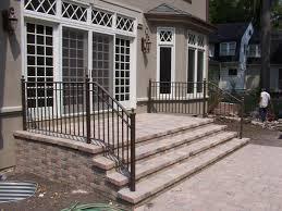 ... Wonderful Iron Railing For Outside Steps Exterior Wrought Iron Stair  Railing Kitsoutdoor Black Iron ...