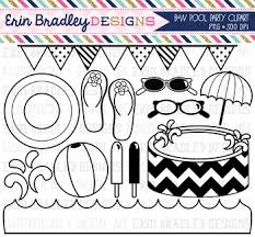 pool party clipart black and white. Brilliant Black Black And White Clipart  Pool Party To And C