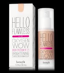 o flawless oxygen wow liquid foundation benefit cosmetics