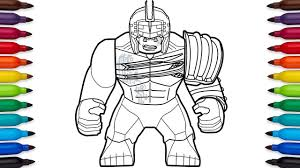 How To Draw Lego Hulk From Marvels Thor Ragnarok Movie Youtube
