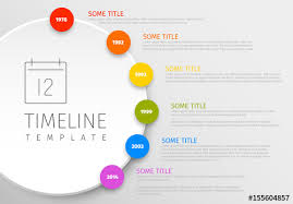 Colorful Circular Timeline Layout Buy This Stock Template And