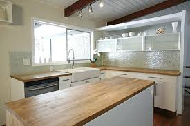 mid century modern kitchen cabinets dramatic makeover wood