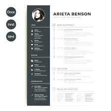 Download Free Modern Resume Templates For Word Free Creative Resume Template In Word Modern Microsoft