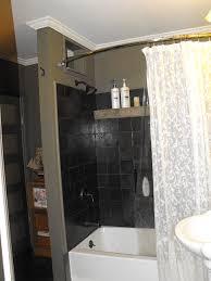 bathroom crown molding. Astounding Designs Of Bathroom Crown Molding Ideas : Cool Decorating Using Black Tile Backsplash And