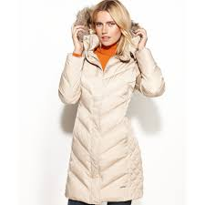 Kenneth cole reaction Petite Hooded Faux-Fur-Trim Down Puffer Coat ... & Gallery Adamdwight.com
