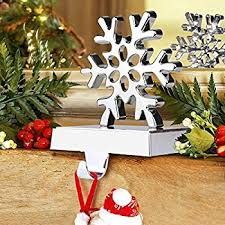 Aytai 3D Snowflake Christmas Stocking Hanger Christmas Decorations for  Home, Holiday Xmas Supplies