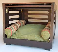 fancy dog crates furniture. comfy dog crate with green bedding and pillows fancy crates furniture y