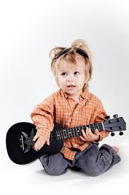 first birthday gift ideas one year old with a black ukulele