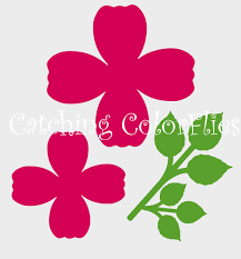 Large Paper Flower Pattern Large Paper Rose Flower Templates And Svg Files Diy Paper Takub