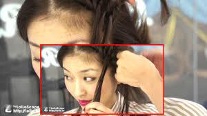 おかあさんといっしょに前髪を編み込み 女の子 子供髪型ヘアアレンジ