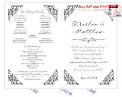 Wedding Program Scroll Border Scrolls 2 Wedding Program Fan Warm Colors