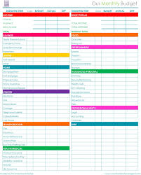 Excel Monthly Budget Spreadsheet Printable Monthly Budget Worksheet Excel Download Them Or Print