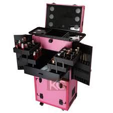 Beauty Station With Lights Stylish Beauty Station Using Makeup Box Salon Stations For Sale With Drawers And Train Wheels View Makeup Station On Wheels Kc Koncai Product