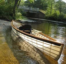 here s a lightweight canoe the frame was built from plans and instructions from platt monfort but skinned with a heavier fabric using ideas from hilary