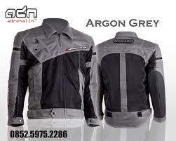 jaket motor harian adn argon abu grey