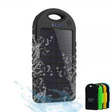 Buy Wholesale Dual USB 5000mAh Waterproof Solar Power Bank .