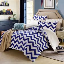 find more bedding sets information about blue white chevron zigzag duvet cover set 4 pieces