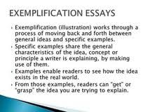 exemplification essay example should a research paper have a exemplification essay example