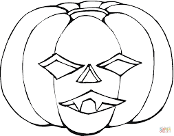 Small Picture Scary Jack o lantern coloring page Free Printable Coloring Pages