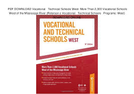 Trade Schools Online Pdf Download Vocational Technical Schools West More Than 2 300 Vo
